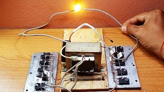 How to make High Voltage by using 3A transformer and 10 transistors D718 NPN