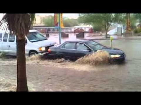 Big Monsoon Rain and Flash Floods in Lake Havasu City 7/13/2012
