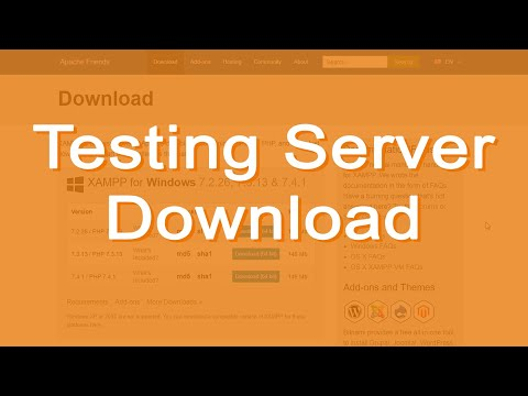 Download a Testing Server Package (an AMP stack) - I will use XAMPP as an example