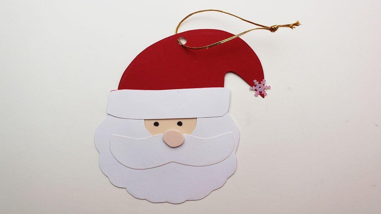 Patrones Dibujos De Navidad En Foami.Cara De Santa Claus De Papel O Foami Paso A Paso