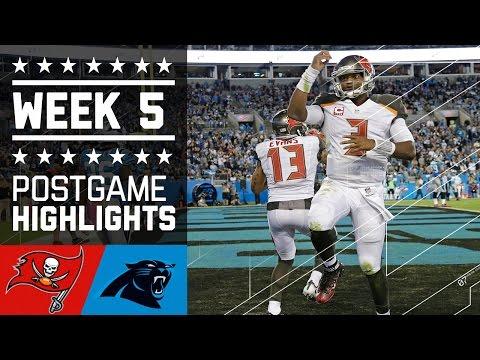 Buccaneers vs. Panthers | NFL Week 5 Game Highlights