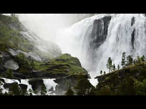 Waterfalls No Copyright Free Background Videos 4K HD Animation Download Loop