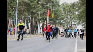 Солигорск. Открытие обновлённой Тропы здоровья и новой лыжероллерной трассы
