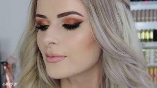 Warm Smokey Eyeshadow | Jeffree Star Palette + Full Face Makeup