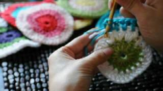 How To Crochet In The Round Circle Changing Colors #1