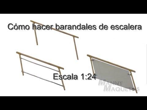 Cómo hacer barandales para escalera