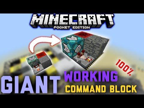 7️⃣ Giant Working Command Block / Khối Lệnh Khổng Lồ Hoạt Động Được || Minecraft Pe