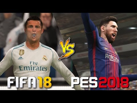 FIFA 18 Vs. PES 2018 | El Clasico 2017 | La Liga | Real Madrid Vs. Barcelona | Gameplay Comparison