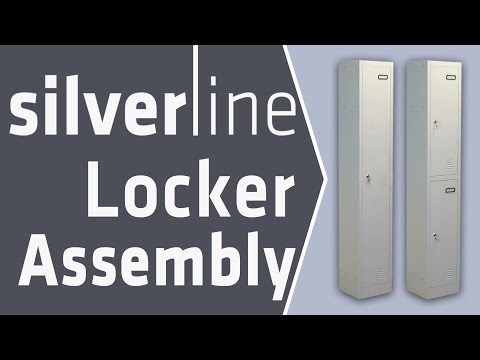 Silverline Office Furniture Assembly Instructions - How to Assemble 1 and 2 Door Metal Locker