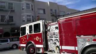 San Francisco FD Engine 2 gets toned out for an EMS call