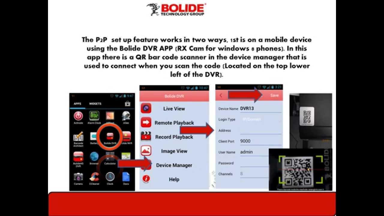 Bolide's P2P Setup SVR9000HDP DVR