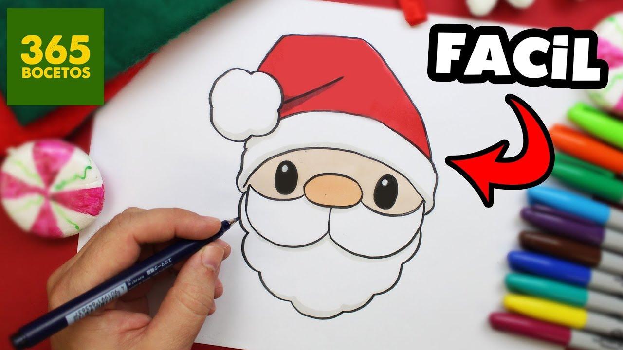 Como Dibujar A Papa Noel Facil En 8 Pasos Trucos Para