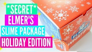 Elmer's Secret Santa Slime Package Unboxing #ElmersWhatIF! Mixing Makeup and Glitter Into Slime #AD