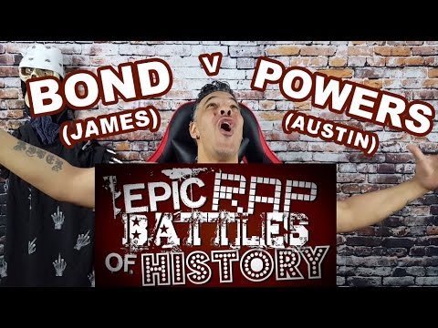 James Bond v Austin Powers. Epic Rap Battle of History REACTION
