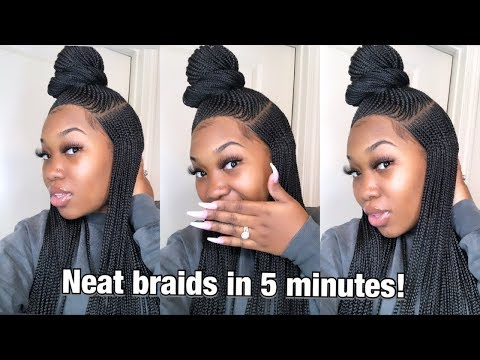 FULL head of NEAT braids in less than 5 minutes! CityBeautyWorld.com