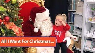 Girl Tells Santa She Wants Nap for Christmas