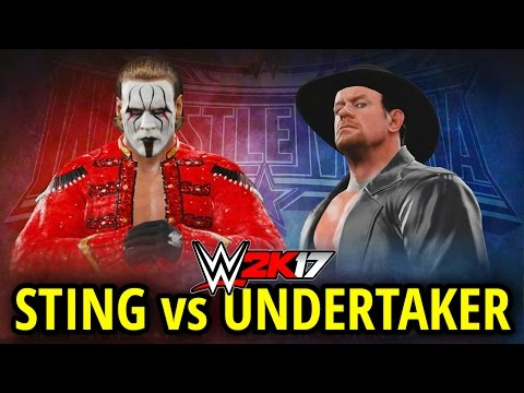 WWE 2K17 - STING vs UNDERTAKER!! WRESTLEMANIA 32 ARENA!! (FULL MATCH GAMEPLAY!)