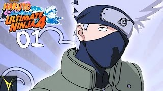 kakashi s bell test   naruto shippuden ultimate ninja 4 walkthrough part 1 gameplay ps2