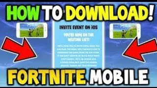 How To Get Fortnite IOS Codes | Free Not CLICKBAIT | Even Dantdm Did This!! |