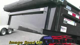 Trailer City PJ low profile 7 ft wide dump trailer