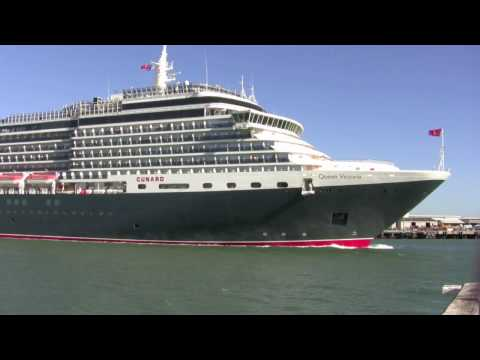 Queen Victoria arriving at Fremantle Port Western Australia