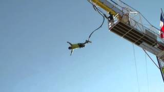 Bungee Jump and 130 Foot Free Fall Drop Into A Net