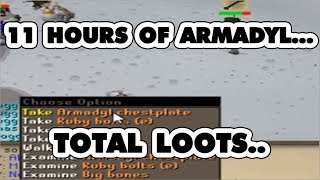 11 Straight Hours Of Armadyl Duo - Loots...