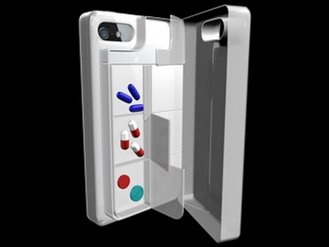 Mobile / Snap-on Pill Box With Pill Reminder App