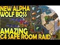 NEW ALPHA WOLF BOSS BATTLE - AMAZING C4 SAFE ROOM RAID - Last Day on Earth Survival Update 1.9.7