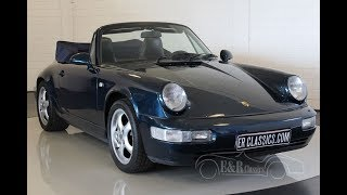 Porsche 911 964 Carrera 2 cabriolet 1991 -VIDEO- www.ERclassics.com