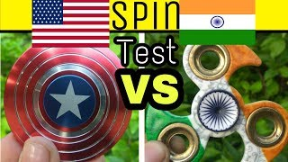 Indian FIDGET SPINNER VS Capitan America FIDGET SPINNER | Spin Test | MUST WATCH | in Hindi