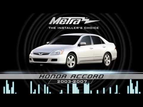 Metra Honda Accord 2003 2007 Kit 99 7803g Doovi