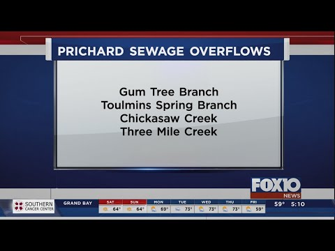 Prichard Water Works and Sewer reports sanitary sewer overflows