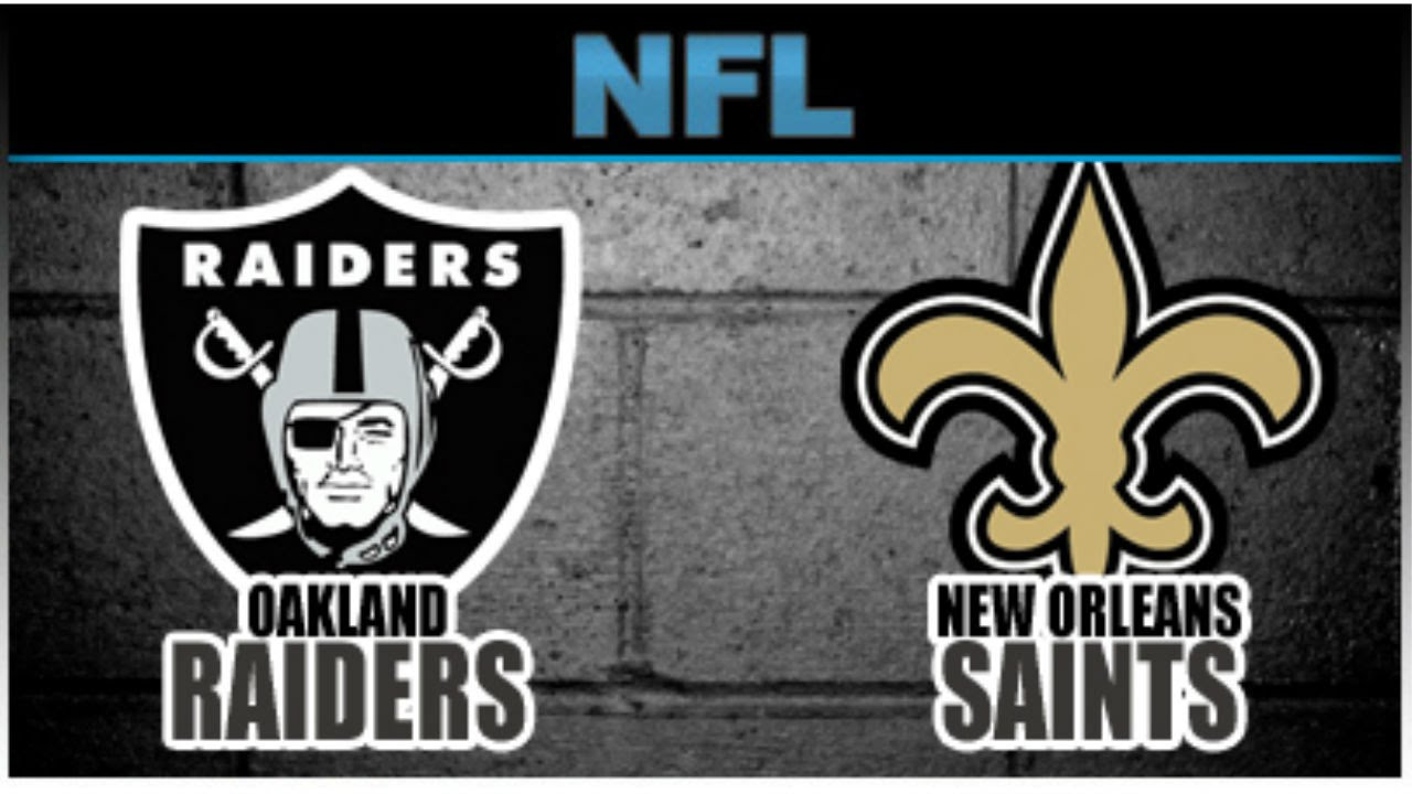 Image result for Oakland Raiders vs. New Orleans Saints