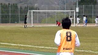 東北1部リーグ NECトーキンFC対ヴィーゼ塩釜 4点目