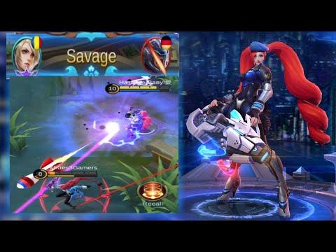 The Most Aggressive Layla #Savage Build & Emblem Set | Mobile Legends: Bang Bang
