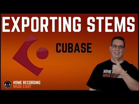 Cubase - Exporting Stems & Sharing Recording Session