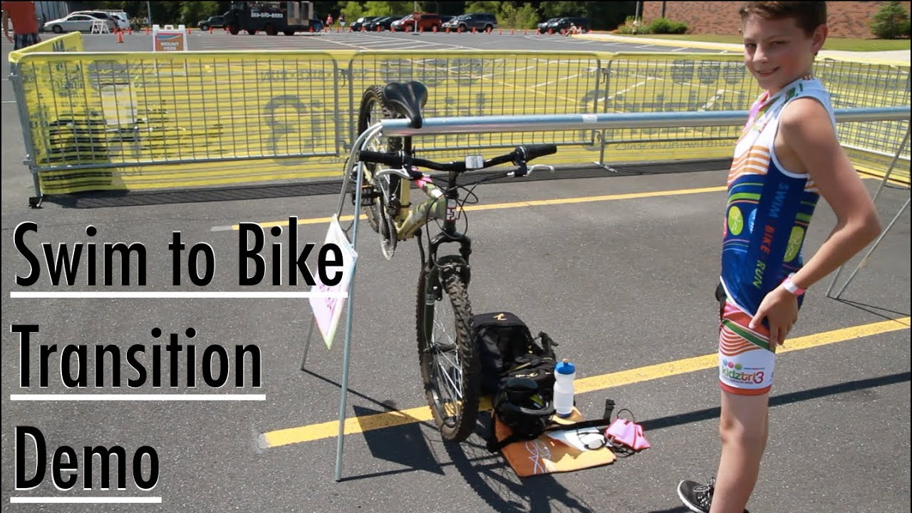 Triathlon Transition Demonstration For Youth And Junior