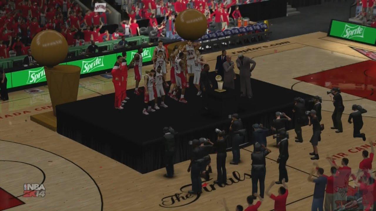 NBA 2K14 - Toronto Raptors NBA Finals Introduction & Championship Celebration - YouTube
