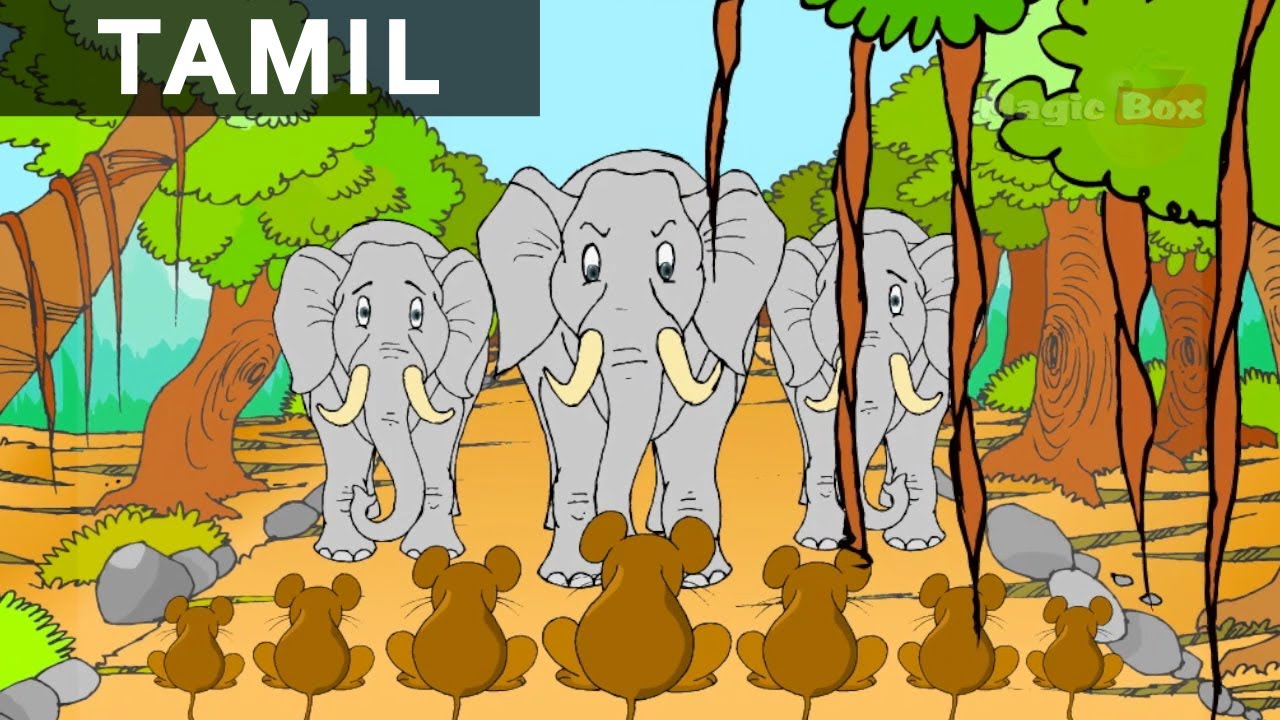 Elephant And The Mice - Panchatantra In Tamil - Cartoon / Animated ...