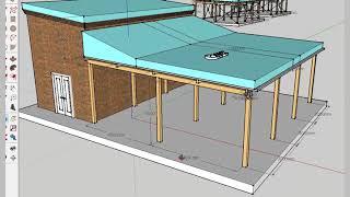 ЛИРА-САПР. Моделирование деревянной веранды. Ортотропный профлист, снеговой мешок. Видео № 1.