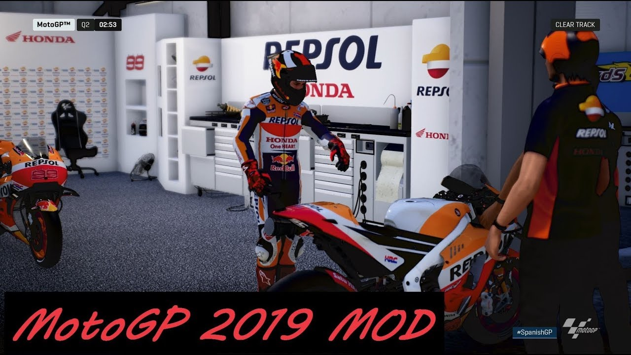 MotoGP 2019 MOD | Jorge Lorenzo | Gameplay + TV REPLAY | #JerezGP - YouTube