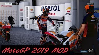MotoGP 2019 MOD | Jorge Lorenzo | Gameplay + TV REPLAY | #JerezGP