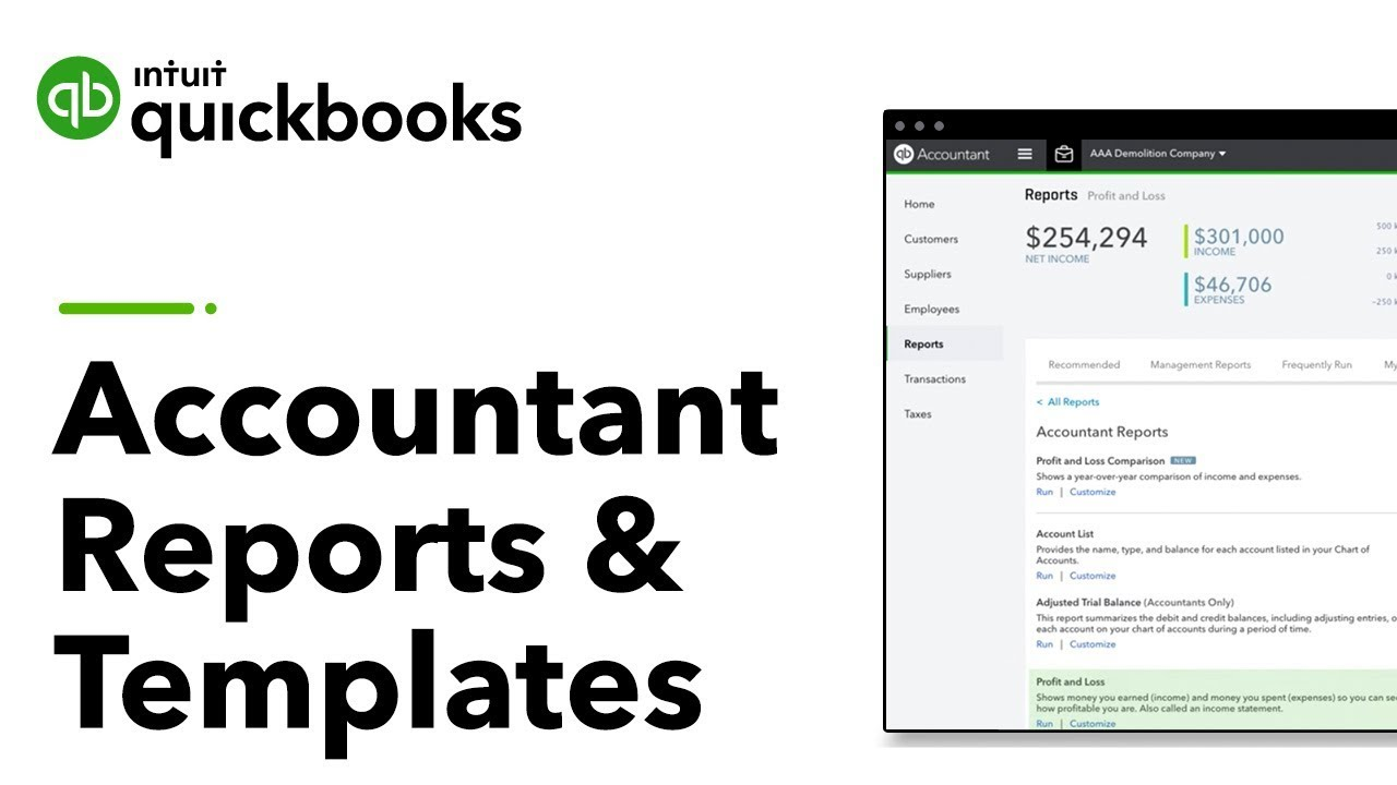 accountant reports and templates in quickbooks online accountant