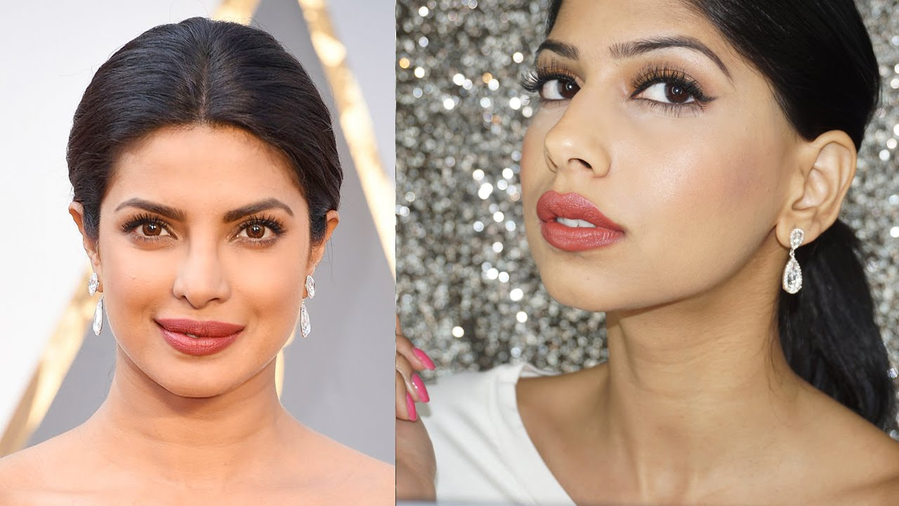 Priyanka Chopra 2016 Oscars Makeup Tutorial Super Easy Glam