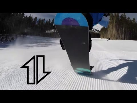 Snowboarding in Slow-motion: 360 and 540 rolls @120fps