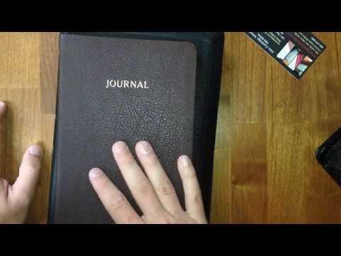 RL Allan Journal in Chocolate Brown Highland Goatskin