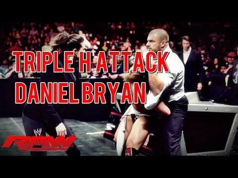 WWE: Daniel bryan severely attacked by Triple H and Stephanie McMahon | RAW 17.03.2014