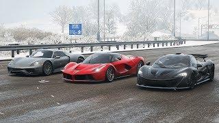Forza Horizon 4 Drag race: McLaren P1 vs Ferrari LaFerrari vs Porsche 918 Spyder