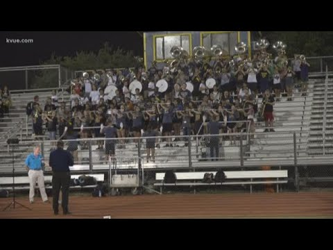 Kvue Daybreak Pep Rally At Stony Point High School Youtube